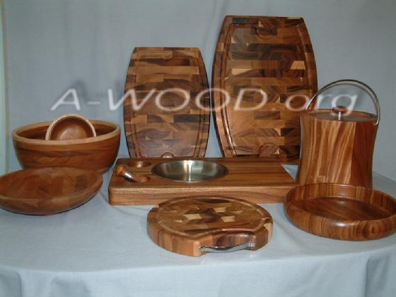 Bowls. trays, cutting boards, Ice bucket
